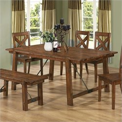 Coaster Lawson Dining Table in Rustic Oak