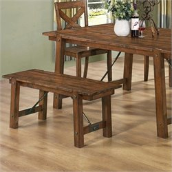 Coaster Lawson Dining Bench in Rustic Oak