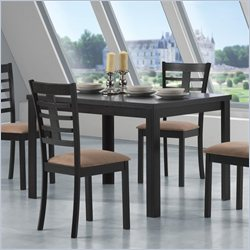 Coaster Kato Rectangular Leg Casual Dining Table in Cappuccino