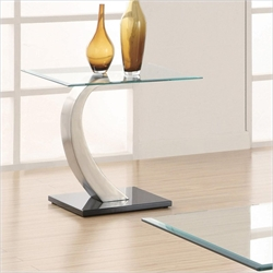 Coaster Shearwater End Table in Satin Metal