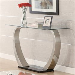 Coaster Shearwater Sofa Table in Satin Metal