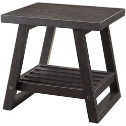 Coaster Occasional Group Casual End Table in rich Brown