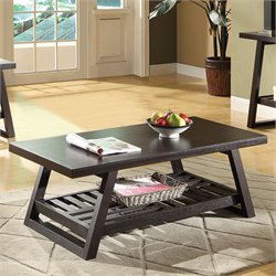 Coaster Occasional Group Casual Coffee Table in Rich Brown