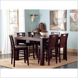 Coaster Prewitt 7 Piece Counter Height Table Set Dark Espresso
