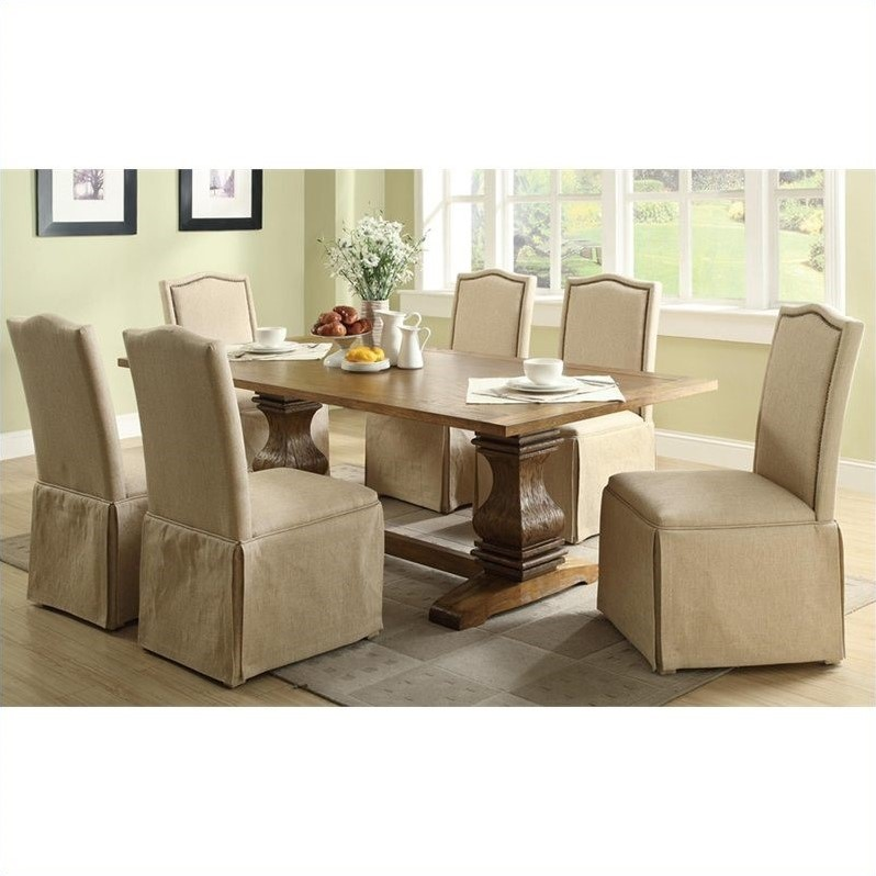 Parkins 7 Piece Dining Table and Chair Set in Coffee