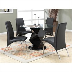 Coaster Ophelia 5 Piece Dining Set in Black