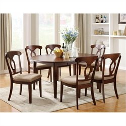 Coaster Liam 7 Piece Table and Chair Dining Set in Cherry