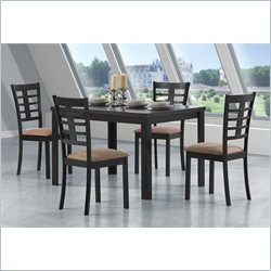 Coaster Kato 5 Piece Rectangular Dining Set in Cappuccino