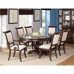 Coaster Harris 7 Piece Dining and Chair Set in Cherry