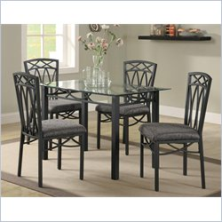 Coaster Blake 5 Piece Rectangular Dining Set in Black