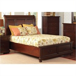 Coaster Hannah Storage Bed in Warm Brown Cherry - Queen