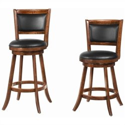 Coaster Bar Stool in Chestnut