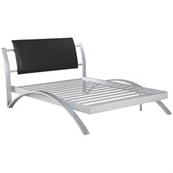 Coaster LeClair Metal Platform Bed in Black and Silver
