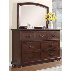 Coaster Hannah Dresser and Mirror in Dark Cherry