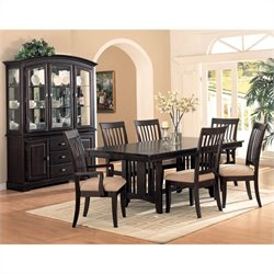 Coaster Monaco 7 Piece Dining Set in Cappuccino