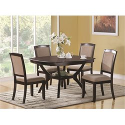 Coaster Memphis 7 Piece Dining Set in Cappuccino
