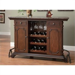 Coaster 3 Piece Home Bar Set in Cherry