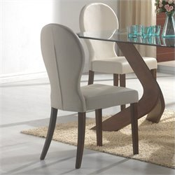 Coaster San Vicente Upholstered Dining Side Chair in Ivory