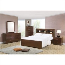 Coaster Jessica 4 Piece Bedroom Set in Cappuccino