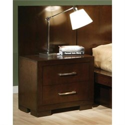 Coaster Jessica Nightstand with Panel in Cappuccino (Set of 2)
