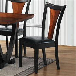 Coaster Boyer Upholstered Dining Side Chair in Black and Cherry