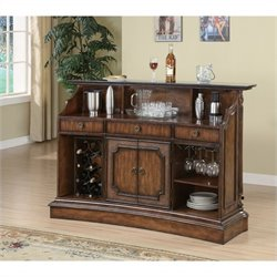 Coaster Clarendon 3 Piece Home Bar Set in Brown