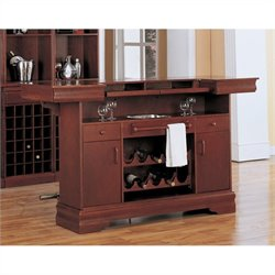 Coaster Lambert 3 Piece Home Bar Set in Cherry