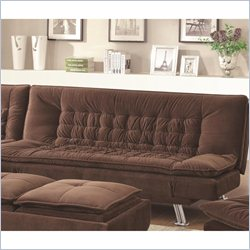 Coaster Lyell Convertible Armless Sofa Bed in Brown