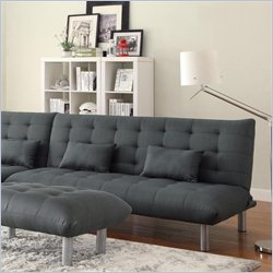 Coaster Clyde Convertible Armless Sofa Bed in Charcoal Grey