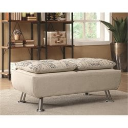 Coaster Olson Fabric Ottoman in Beige