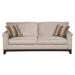 Coaster Mason Velvet Sofa in Blue Gray