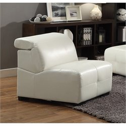 Coaster Adjustable Headrest Accent Chair in White