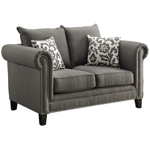 Coaster Emerson Fabric Loveseat in Gray