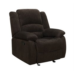 Coaster Fabric Recliner in Brown