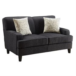 Coaster Finley Fabric Loveseat in Black