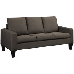 Coaster Bachman Linen Sofa in Gray