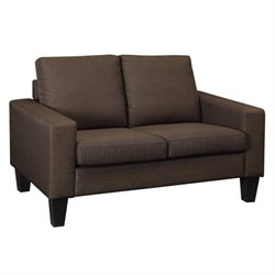 Coaster Bachman Fabric Loveseat in Chocolate