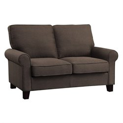 Coaster Noella Fabric Loveseat in Chocolate