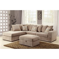 Coaster Fabric Sofa Set in Coffee