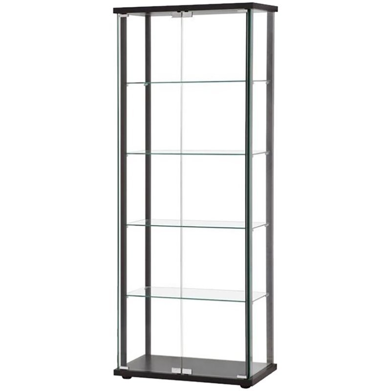 Coaster 5 Shelf Contemporary Curio Cabinet in Black  sc 1 st  Cymax Stores & Coaster 5 Shelf Contemporary Curio Cabinet in Black - 950170ii