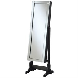Coaster Jewelry Armoire Accent Mirror in Black