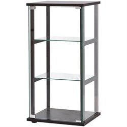 Coaster Contemporary Glass Curio Cabinet in Black