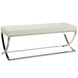 Coaster Living Room Bench in White