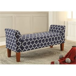 Coaster Storage Bench in Navy Blue