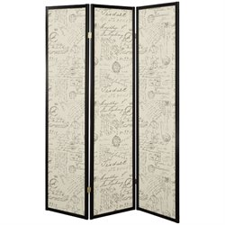 Coaster 3 Panel Folding Screen in Postal Script