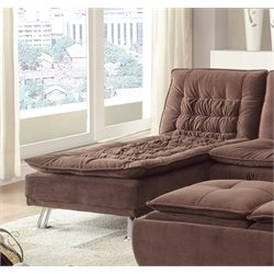Coaster Lyell Fold Down Chaise Lounge Futon in Brown