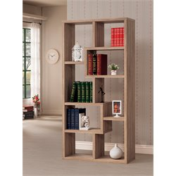 Coaster Open Back Bookshelf in Natural Finish