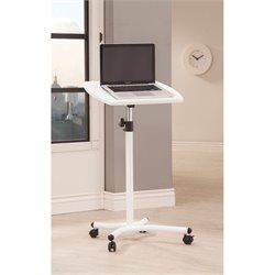 Coaster Laptop Stand Desk in White