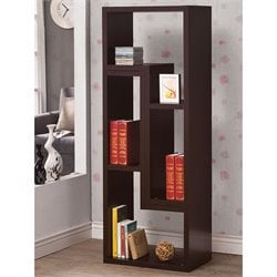 Coaster Wood Bookcase in Cappuccino
