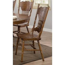 Coaster Brooks Turned Spindles Dining Side Chair in Oak